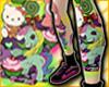 MT*Tattoo Kitty Rainbow