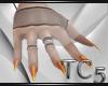 Witch orange nails