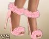 {VS} Furry Pink Heels