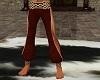 Red harem pants