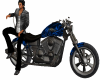 Electric Blue Motorbike