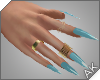 ~AK~ Nails: Gold/Blue