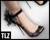 [TLZ]blk/slvr puff heels