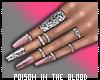 ** Pink Nails + Rings