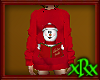 Snowman Long Sweater Red