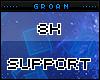 G| 8k Support Sticker