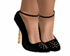 blk n gold shoes
