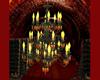 old copper chandelier