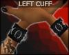 +KM+ PVC Cuff Blk LEFT