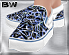 Blue Party Slip On Shoes