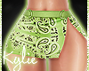 RLS Green Bandana Skirt