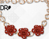 DR- Country roses necklc