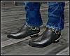 Black Cowboy Boots M