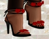 sandal with roses s \n 1