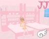 Pink sugar bed w 8 poses