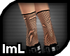 lmL Torn Fishnets