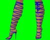 [AR]Blue Gladiator boots