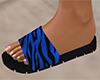 Blue Stripe Sandals (F)