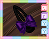 Kids Purple Bow Hairclip