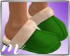 AM: Fur Slippers Green