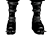 PVC Black Spiked Boots