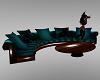 Teal Sofa /w Dance Table