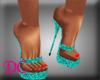 (DC)Platform Sandal Teal
