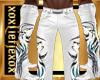 [L] White WOLF  Pants M