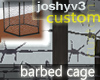 Barbed Cage - dark wire
