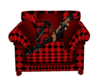 red/black chair