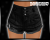 *D* Black Vintage Shorts