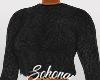 ṩFuzzy Sweater Black