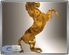 horse in gold statue