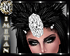 (MI) Black feather crown