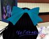 Cyan Hair Bow