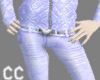 Silvery blue Jean