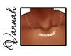 -V- Block Necklace Sarah