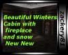 New Snowy Winter Cabin