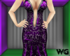 Silver Foil Gown Purple
