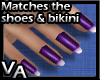 VA Deep Purple Nails