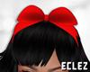 SWhite hair bow