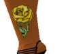 yellow rose leg tattoo