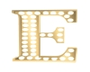 Gold Blinking Letter- E