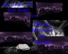 Purple Sci fi cityscape