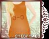 [SH] Orange o-o Top