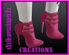 Pink Skull&Roses Boots