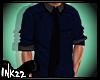 Casual Shirt Blue~ Black