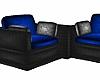 Black/Blue Corner Seats