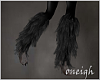 Grey Shimmer Leg Fur (R)