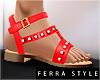 ~F~Summer Sandals Red